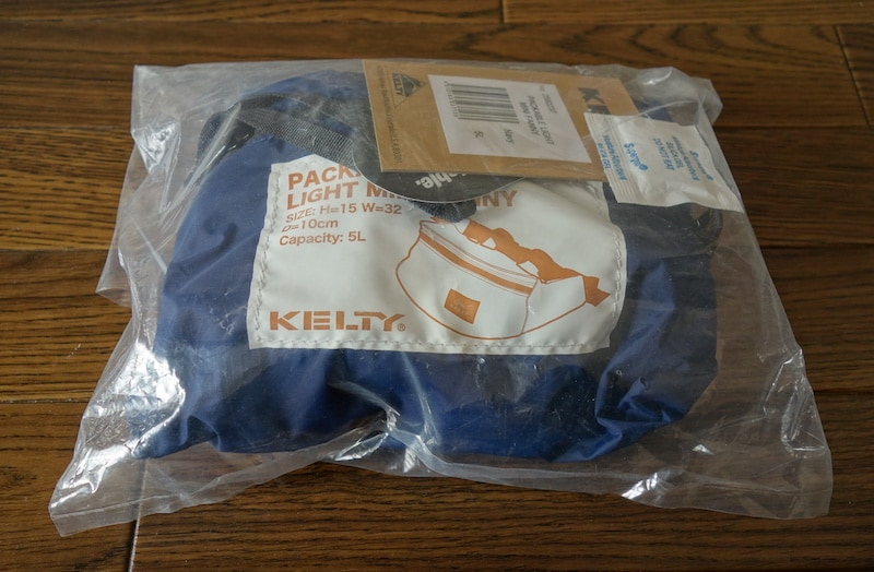 Kelty Hip bag Packable light mini fanny(Navy)を触ってレビュー